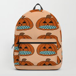 A 2020 Halloween - Pumpkin Jack-o-lanterns with Face Masks  Backpack