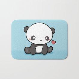 Cute Kawaii Panda With Heart Bath Mat