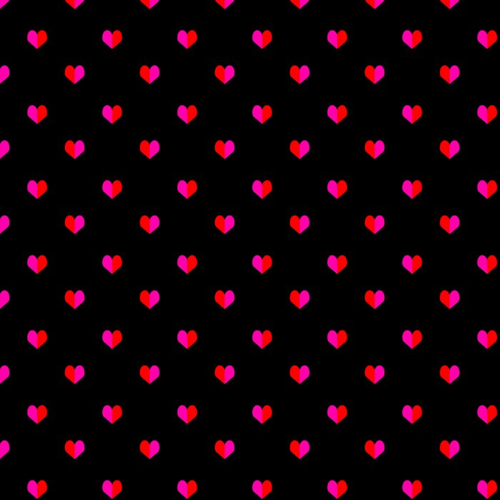 Valentines Day Hearts love gift cute gift for him or her gender neutral pink black red heart pattern Duvet Cover