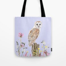 Meadow Barn Owl Tote Bag