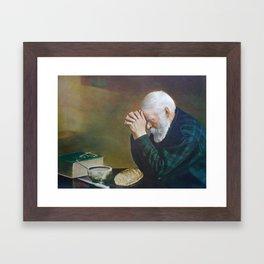 Eric Enstrom Grace Man Praying Over Bread Framed Art Print