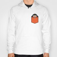 pocket Hoodies featuring Pocket Penguin by Steven Toang