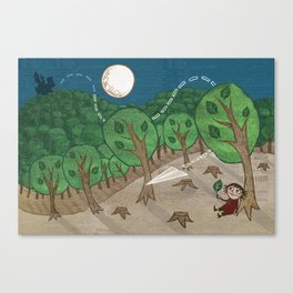 The little big forest Canvas Print