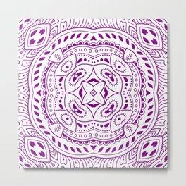 Mindful Mandala Pattern Tile MAPATI 146 Metal Print