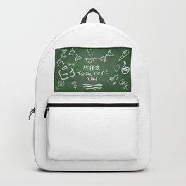 Happy Teachers Day On A Chalkboard Backpack