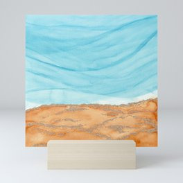 Watercolor abstract waves 3 Mini Art Print