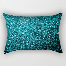 Beautiful Aqua blue glitter sparkles Rectangular Pillow