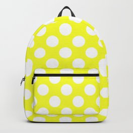 Yellow With Large White Polka Dots Backpack