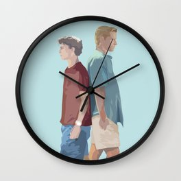 Oliver and Elio Wall Clock