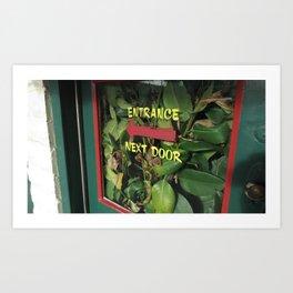 Cute Door w/ Plants Art Print
