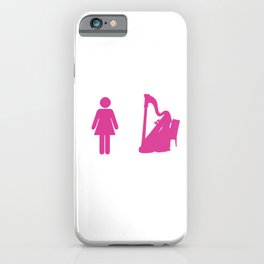 Harps String Instruments Musicians Musical Notes My Daughter Harpist Gift iPhone Case