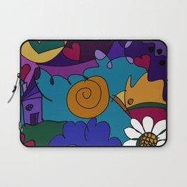 """Before the Celebration"" bold, colorful doodle art Laptop Sleeve"