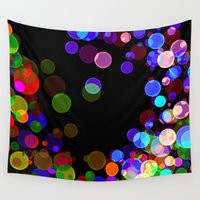 bubbles Wall Tapestries featuring Bubbles by haroulita