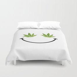 Weed Smile Duvet Cover