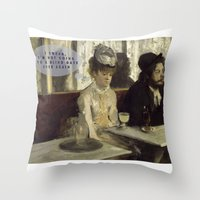 degas Throw Pillows featuring Talking Paintings - Degas by madraccoon