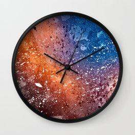 Vibrant Acrylic Texture Wall Clock