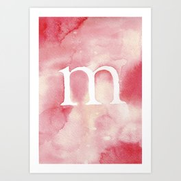 m watercolor Art Print