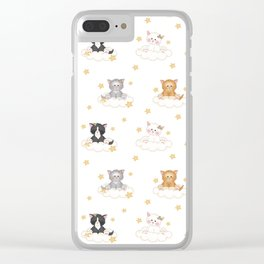 Cat Kitten Baby Girl Nursery Room Decor Clear iPhone Case