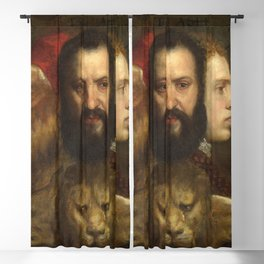 "Titian (Tiziano Vecelli) ""The Allegory of Age Governed by Prudence"" Blackout Curtain"
