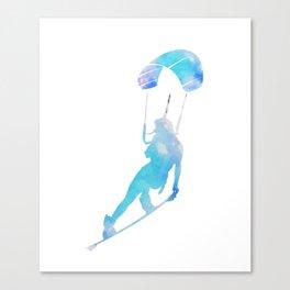 Kite Surfing Wind Ocean Sea Paragliding Sport Gift Canvas Print