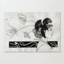 Passerine (Mata Hari with teasel) Canvas Print
