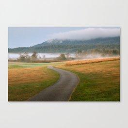 Misty Dawn Golf Course Canvas Print