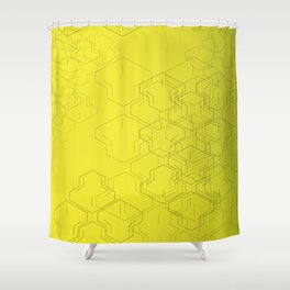 Tire Mark Shower Curtain