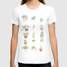 Potted Plants Womens Fitted Tee White MEDIUM