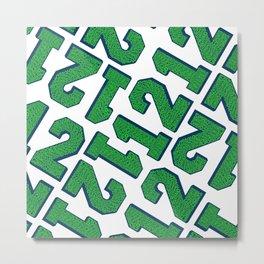 12 Pattern Metal Print