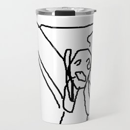 the scream by munch: low effort recreation in ms paint Travel Mug