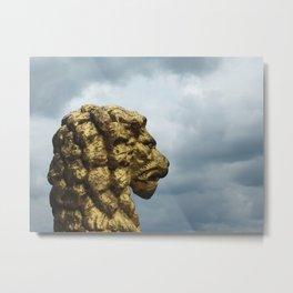 Cloud Lion Metal Print