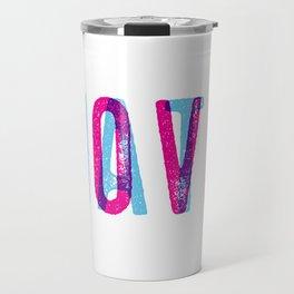 LOVE over HATE Travel Mug