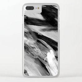 Abstract Artwork Greyscale #1 Clear iPhone Case