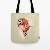 cheetah Tote Bags featuring CHEETAH by KUI29