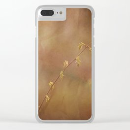 New Leaves Clear iPhone Case