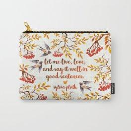 Sylvia Plath Birds Carry-All Pouch