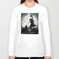 gandalf Long Sleeve T-shirts featuring Gandalf Kid by Andy Fairhurst Art