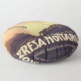 Vintage poster - Stresa-Mottarone Floor Pillow
