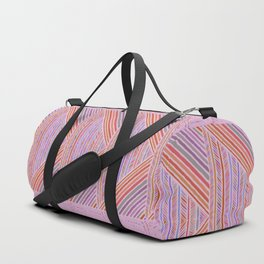 Colorful Geometric Line Work Pattern Duffle Bag