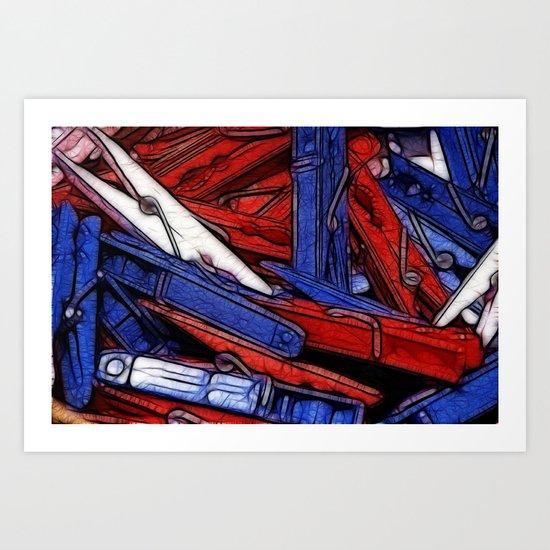 Washday Art Print
