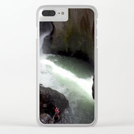 Roaring Box Canyon Falls, in a 200-foot Crevasse Clear iPhone Case