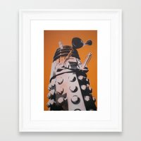 dalek Framed Art Prints featuring Dalek by cocksoupart