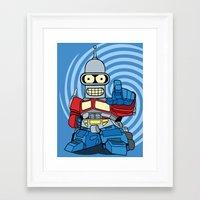 bender Framed Art Prints featuring Optimus Bender by darko888