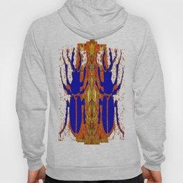 Lapis Blue Beetle on Gold Hoody