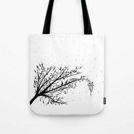 Larva Tree Ink Art Tote Bag