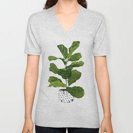 Fiddle leaf fig Tree Unisex V-Neck