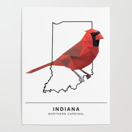 Indiana – Northern Cardinal Poster