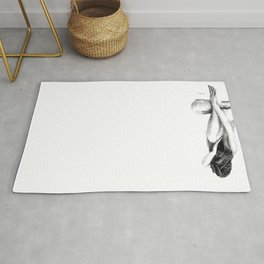 Black and White Woman Rug