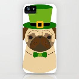 Kiss Me I'm Irish Saint Patrick's Day Pug Coffee Mug iPhone Case