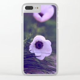 Purple Anemone Clear iPhone Case